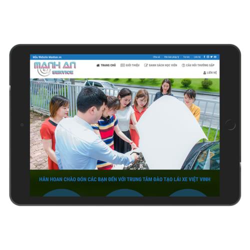 Mẫu Website Đào Tạo Lái Xe MA-055