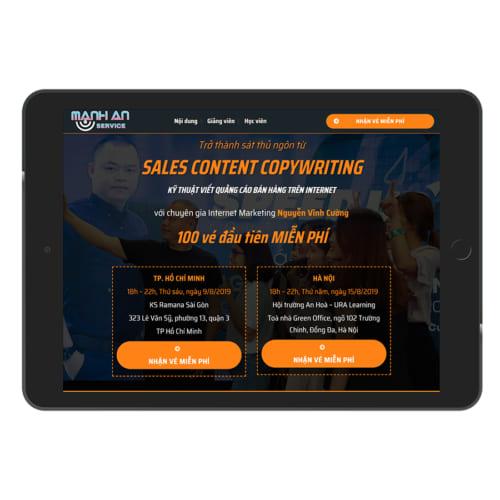 Mẫu Website Đào Tạo Sales MA-052