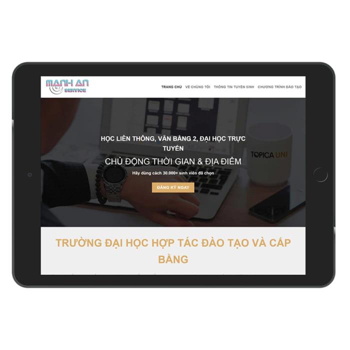 Mẫu Website Đào Tạo, Tuyển Sinh MA-050