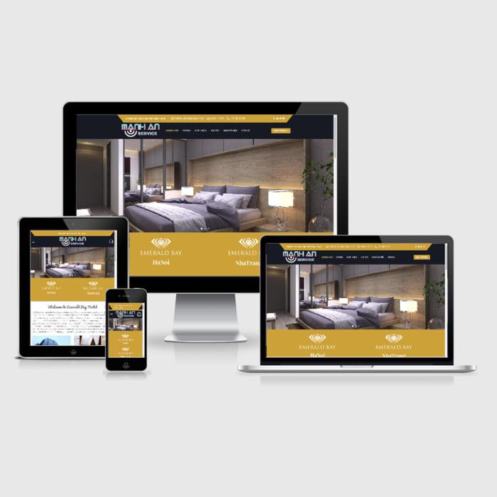 Mẫu Website Đặt Phòng Khách Sạn MA-048