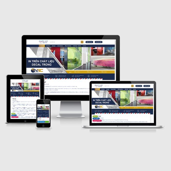 Mẫu Website Decal Dán Kính MA-022