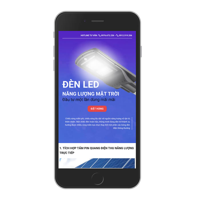 Mẫu Website Đèn Led Năng Lượng Mặt Trời MA-128