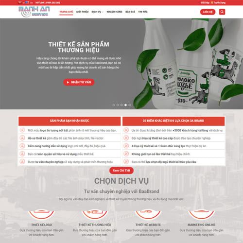Mẫu Website Dịch Vụ Thiết Kế MA-112