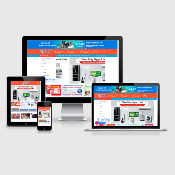 Mẫu Website Điện Tử Điện Lạnh MA-130