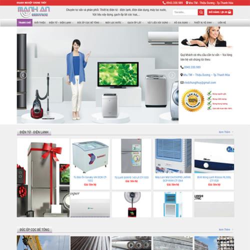 Mẫu Website Đồ Điện Tử, Vật Liệu Xây Dựng MA-131