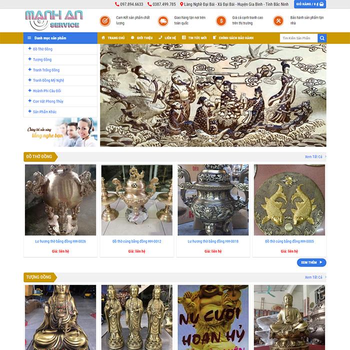 Mẫu Website Đồ Thờ MA-133