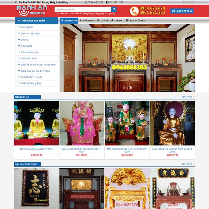 Mẫu Website Đồ Thờ MA-138