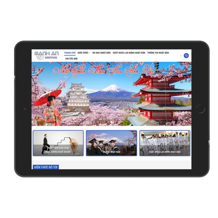 Mẫu Website Du Học MA-166