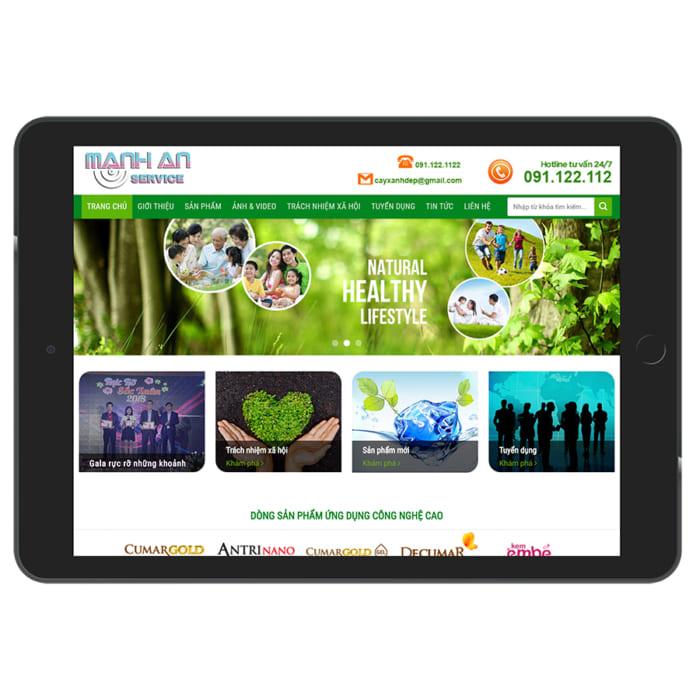 Mẫu Website Dược Phẩm, Thuốc MA-029
