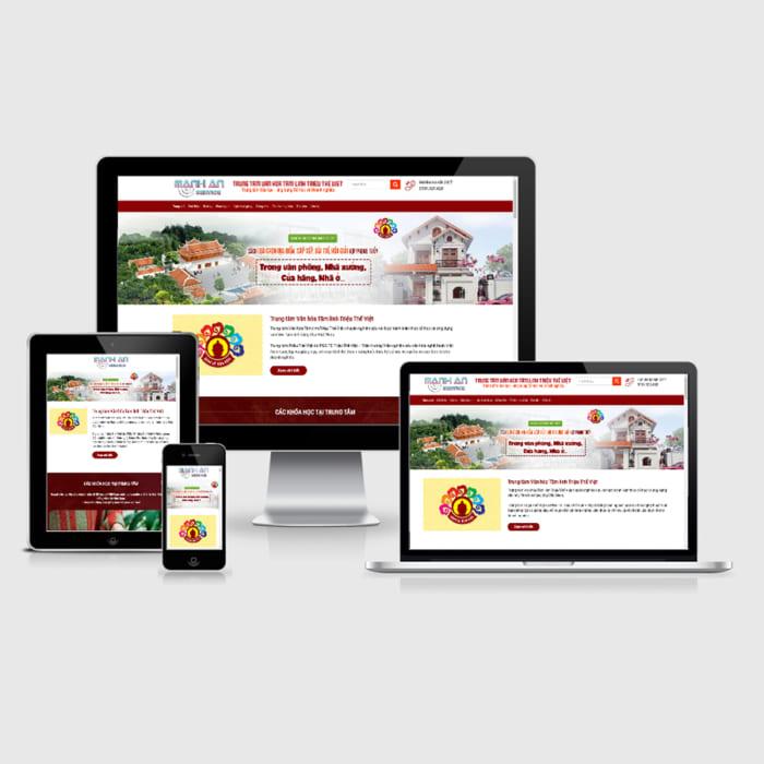 Mẫu Website Giảng Dạy Phong Thủy MA-039