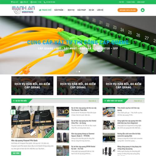 Mẫu Website Hàn Cáp Quang MA-015