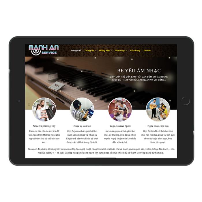 Mẫu Website Học Piano, Đào Tạo Năng Khiếu Âm Nhạc MA-072
