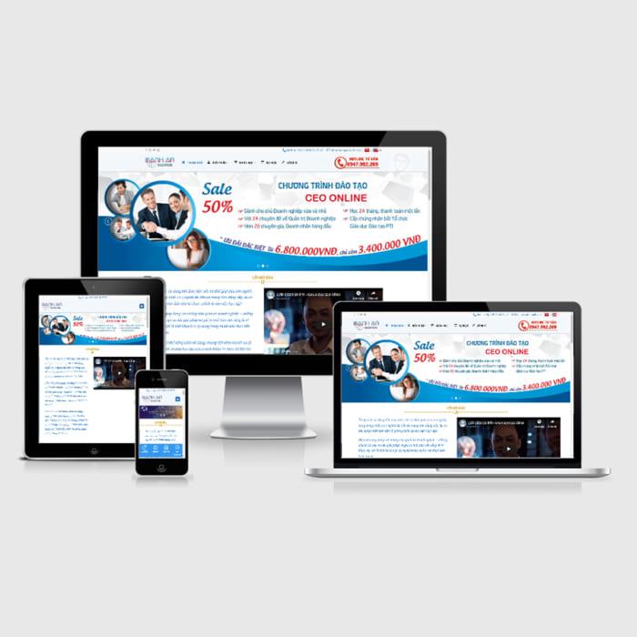 Mẫu Website Học Viện CEO MA-143