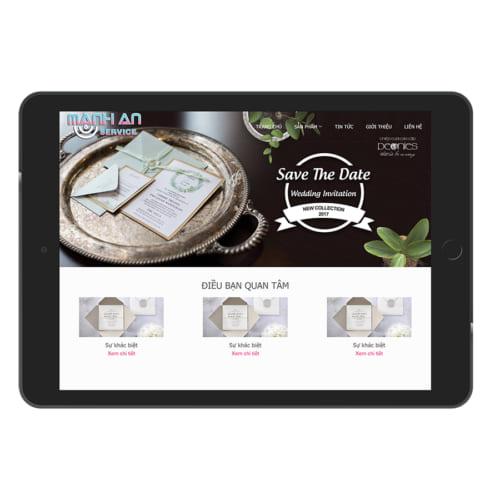 Mẫu Website In Thiệp Cưới MA-083