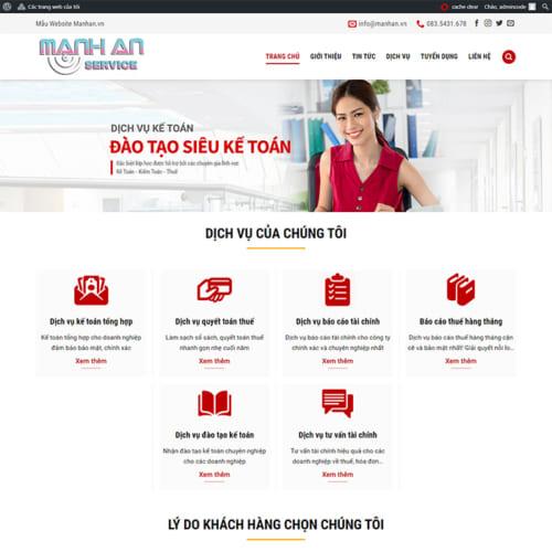 Mẫu Website Kế Toán, Thành Lập Công Ty MA-034