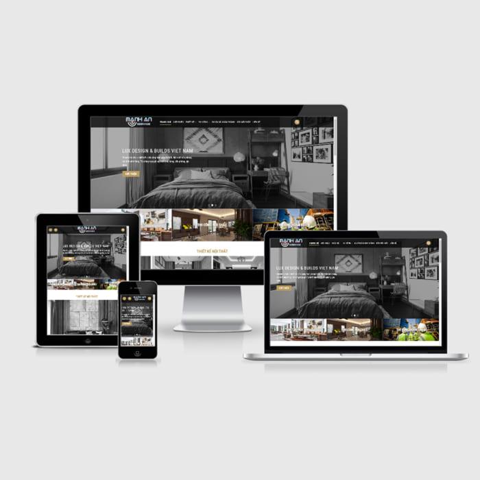 Mẫu Website Kiến Trúc Và Nội Thất MA-201
