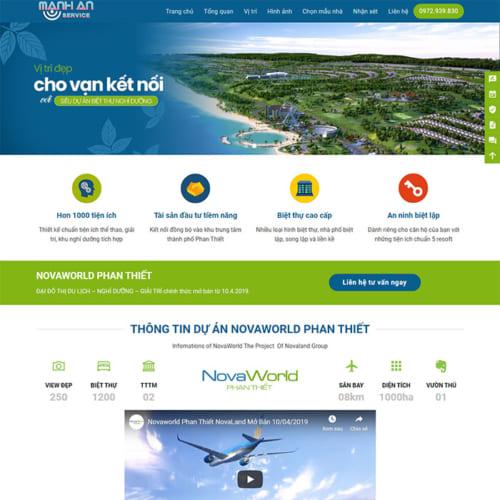 Mẫu Website Landing Page Bất Động Sản MA-010