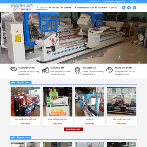 Mẫu Website Máy Cắt Nhôm MA-155