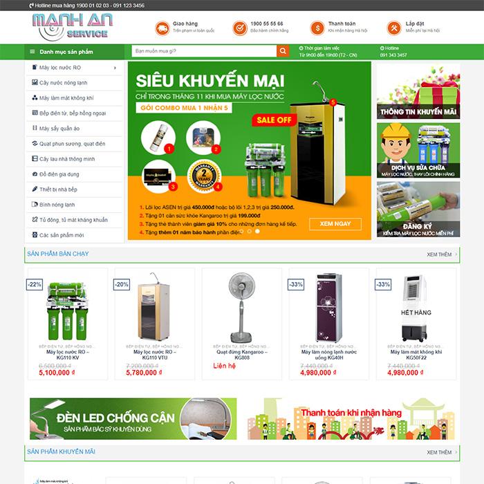 Mẫu Website Máy Lọc Nước - Điện Máy MA-058