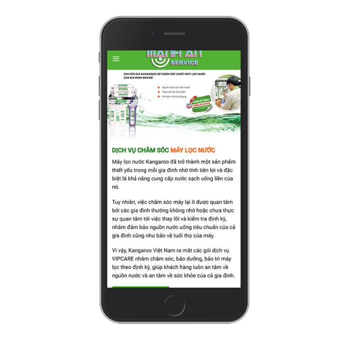 Mẫu Website Máy Lọc Nước MA-087