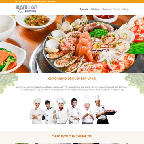Mẫu Website Nhà Hàng, Ẩm Thực MA-065