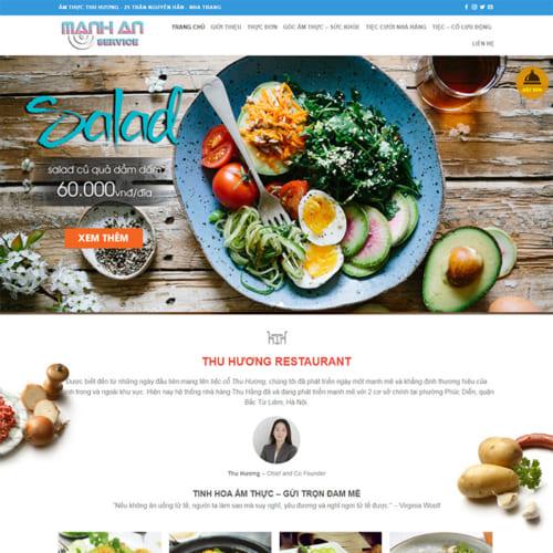 Mẫu Website Nhà Hàng, Ẩm Thực MA-066