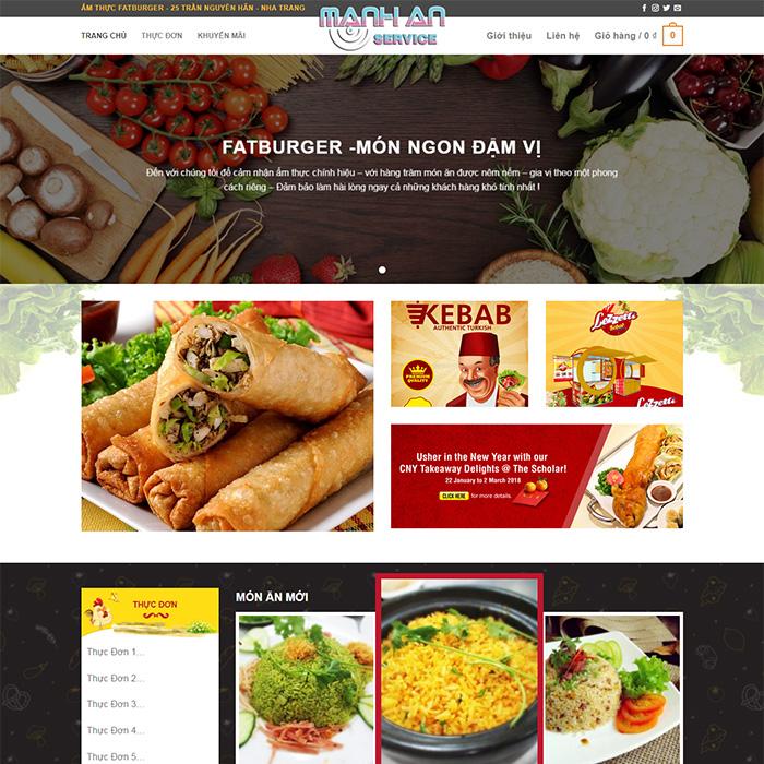 Mẫu Website Nhà Hàng - Đồ Ăn Nhanh MA-008