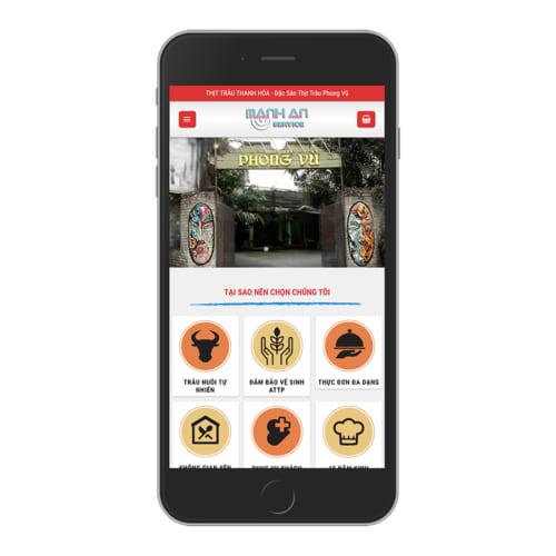 Mẫu Website Nhà Hàng Thịt Trâu MA-184