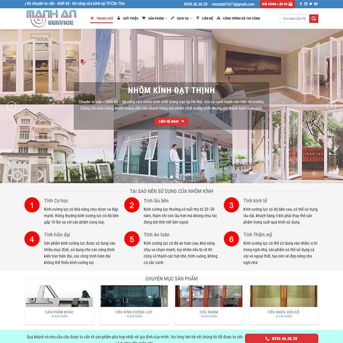 Mẫu Website Nhôm Kính MA-167