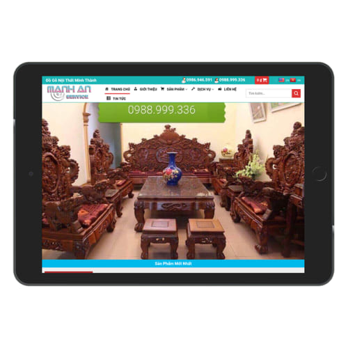 Mẫu Website Nội Thất Gỗ Tự Nhiên MA-136