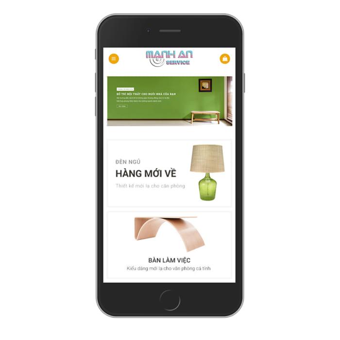Mẫu Website Nội Thất MA-006