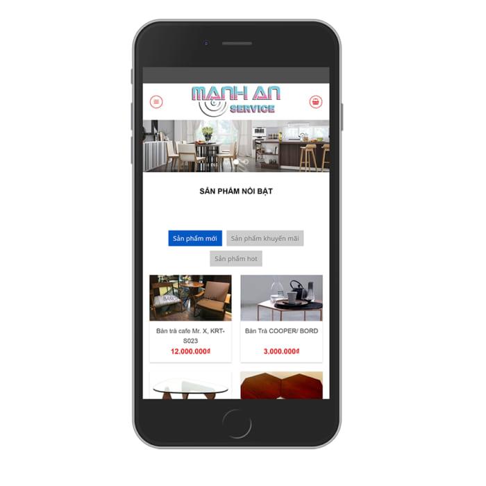 Mẫu Website Nội Thất MA-007