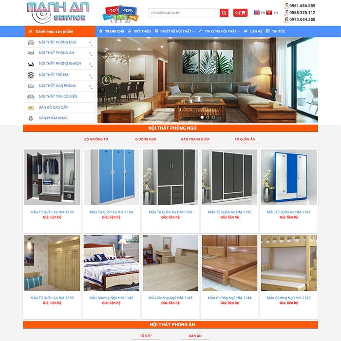 Mẫu Website Nội Thất MA-170