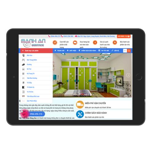 Mẫu Website Nội Thất Nhựa MA-171
