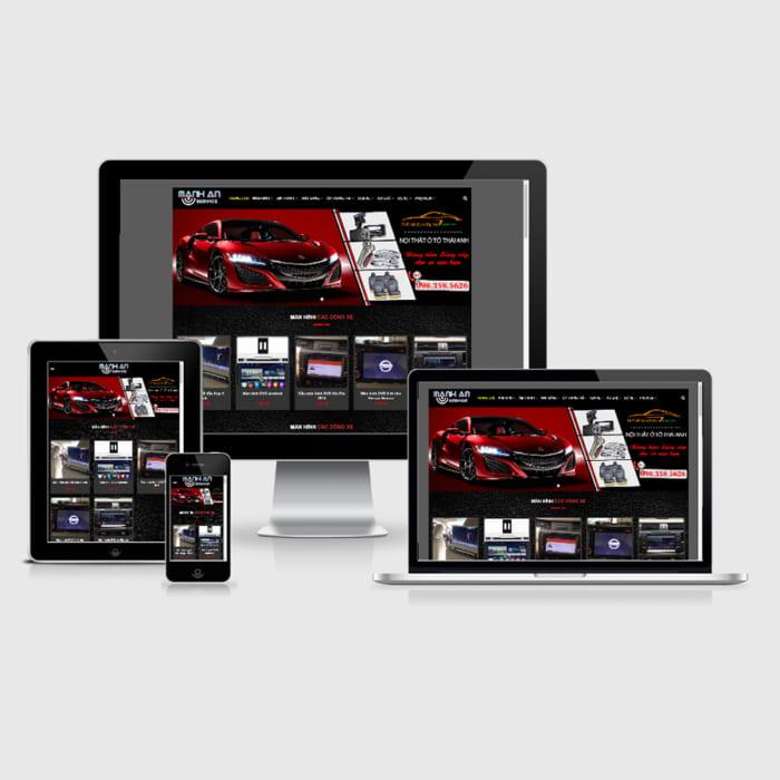 Mẫu Website Nội Thất Oto, Đồ Chơi Oto MA-024