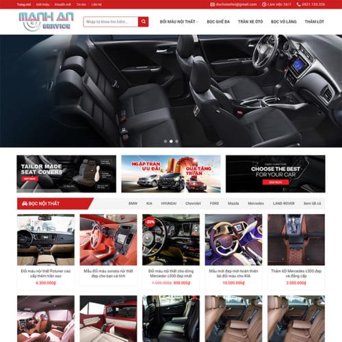 Mẫu Website Nội Thất Oto MA-070