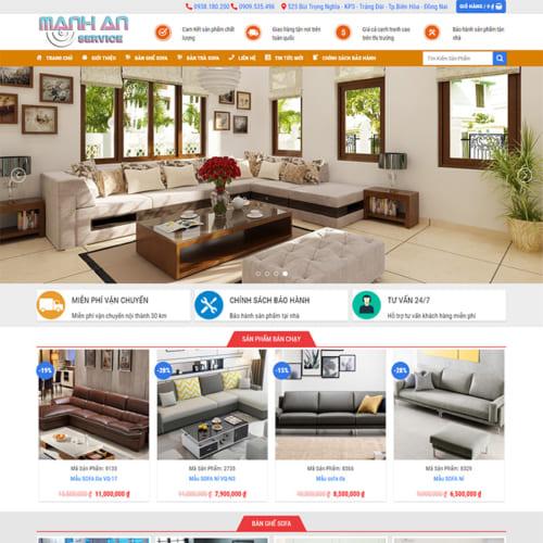 Mẫu Website Nội Thất Sofa MA-159
