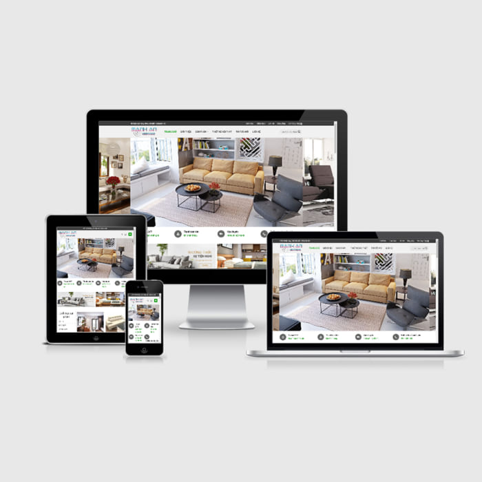 Mẫu Website Nội Thất Sofa MA-204