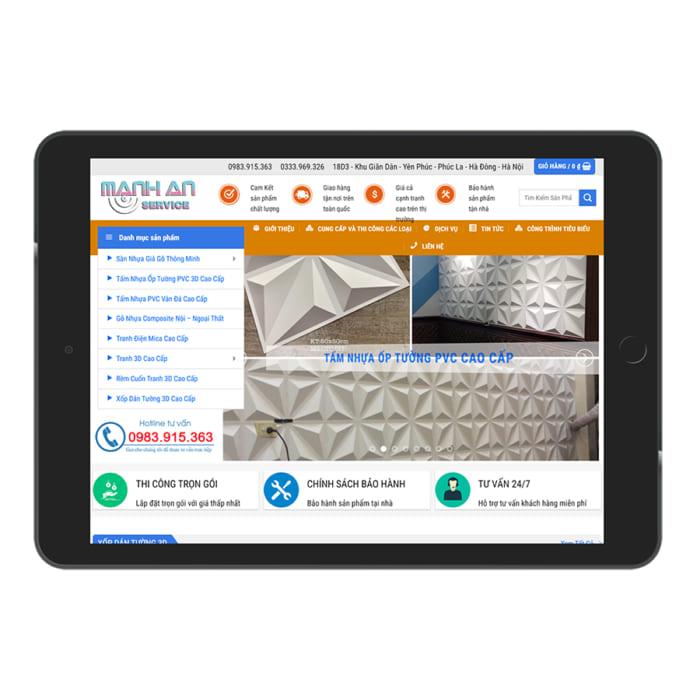 Mẫu Website Nội Thất Trang Trí 3D MA-168