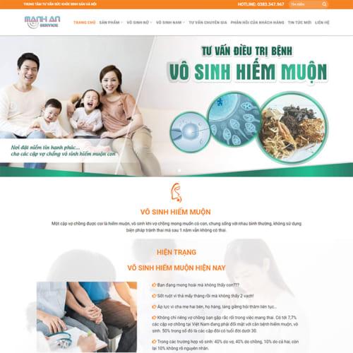 Mẫu Website Phòng Khám Chữa Bệnh Vô Sinh MA-094