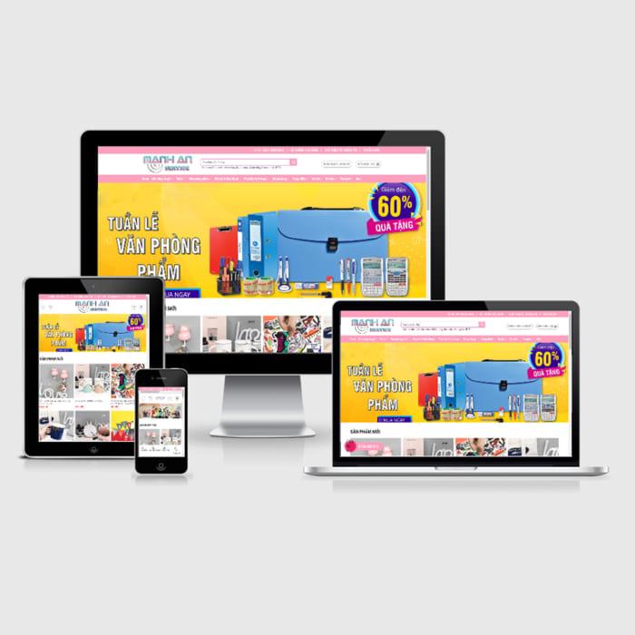 Mẫu Website Qùa Tặng Và Phụ Kiện MA-150