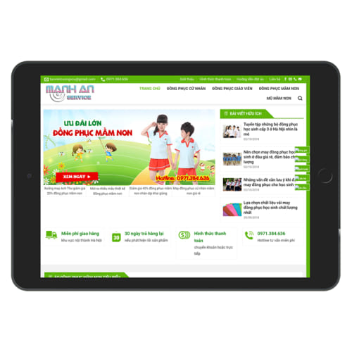 Mẫu Website Quần Áo Đồng Phục MA-020