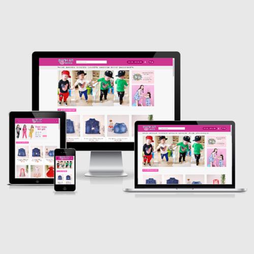 Mẫu Website Quần Áo - Thời Trang Trẻ Em MA-001