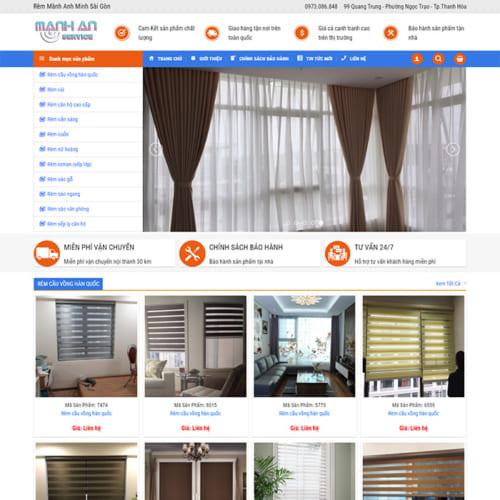 Mẫu Website Rèm Mành MA-178