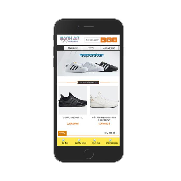 Mẫu Website Shop Bán Giày Adidas MA-097