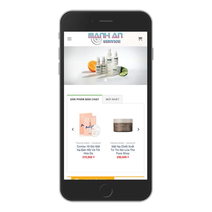 Mẫu Website Shop Bán Mỹ Phẩm - Bách Hóa MA-053