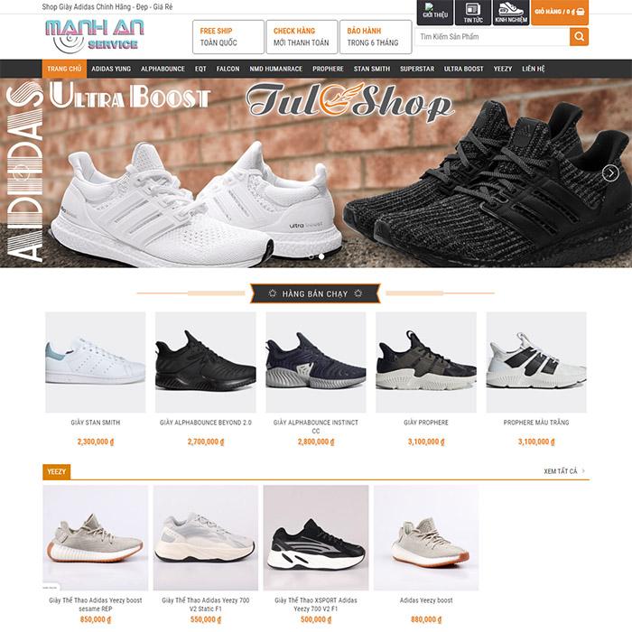 Mẫu Website Shop Giày Adidas MA-145