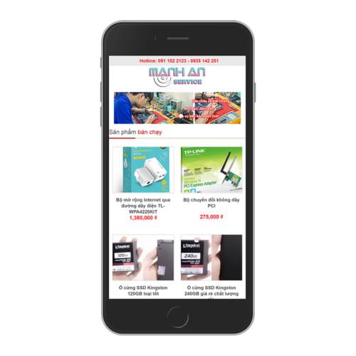 Mẫu Website Shop Phụ Kiện Điện Thoại MA-056