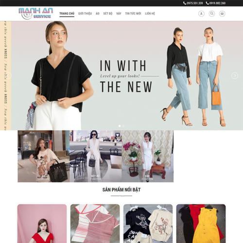 Mẫu Website Shop Quần Áo MA-140
