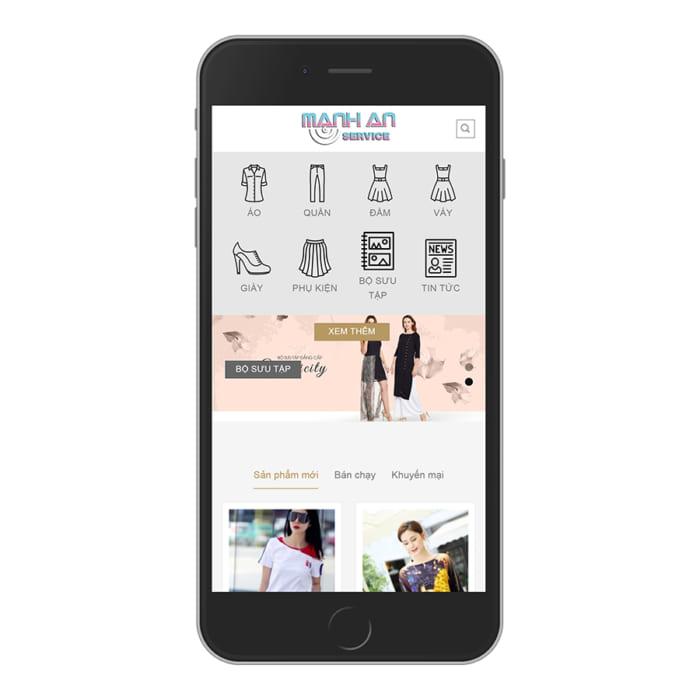 Mẫu Website Shop Thời Trang MA-085